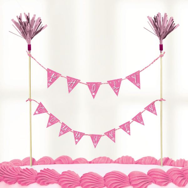 Communion Church Pink- Cake Picks